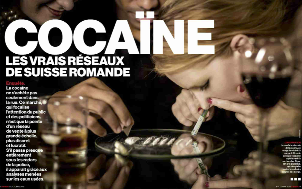 L'hebdo : Cocaïne, les vrais réseaux de Suisse romande (Interview D. Zullino)