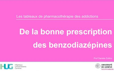De la bonne prescription des benzodiazépines