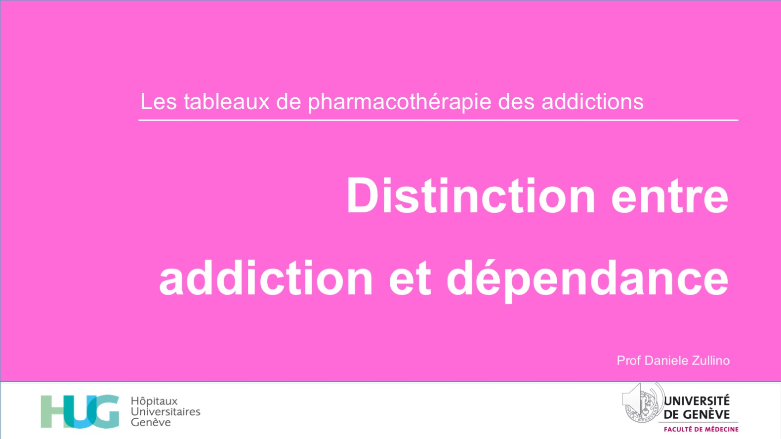 Distinction entre addiction et dépendance