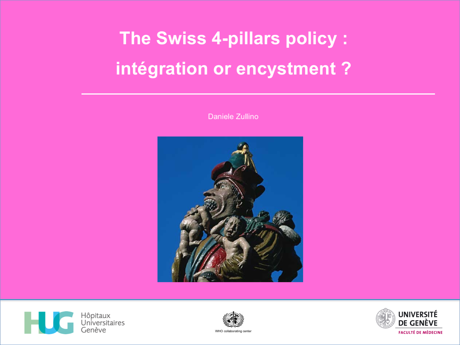 The Swiss 4-pillars policy :  intégration or encystment ?