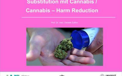 Substitution mit Cannabis /  Cannabis – Harm Reduction