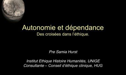 Autonomie et dépendance : Des croisées dans l'éthique