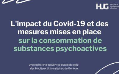 Recherche : Impact du Covid-19 et des mesures mises en place sur la consommation de substances psychoactives