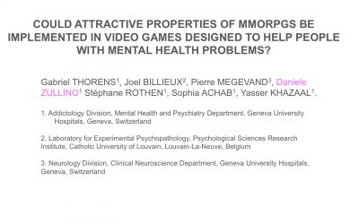 Could Attractive Properties of MMORPGs be Implemented in Video Games Designed to Help People with Mental Health Problems?