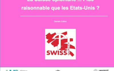 La Suisse opiomane … Plus raisonnable que les Etats-Unis ?