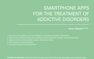 Smartphone apps for the treatment of addictive disorders