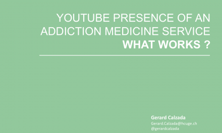 YouTube presence of an addiction medicine service, what works ?