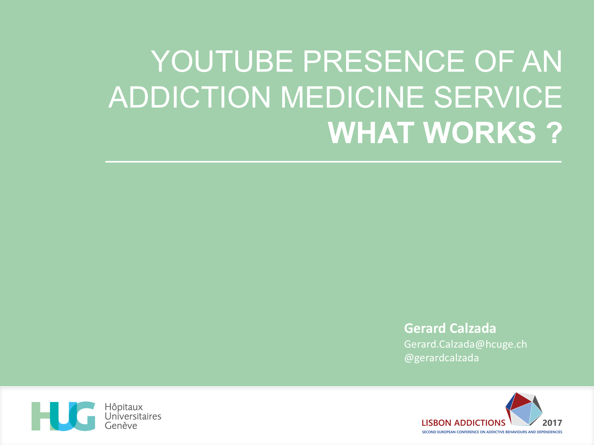 YouTube presence of an addiction medicine service what works Diapositive01